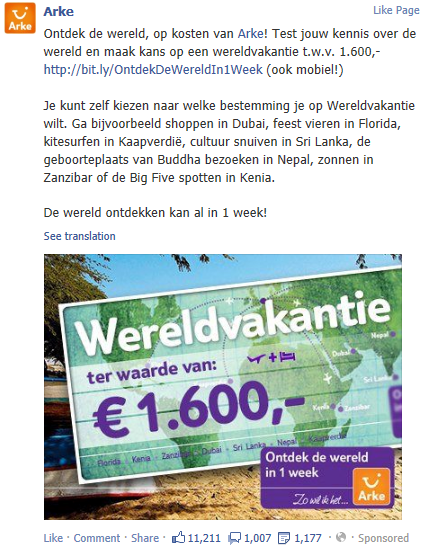 facebook marketing winactie