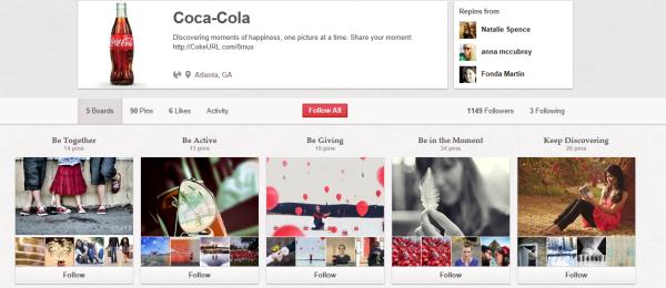 visual content coca cola
