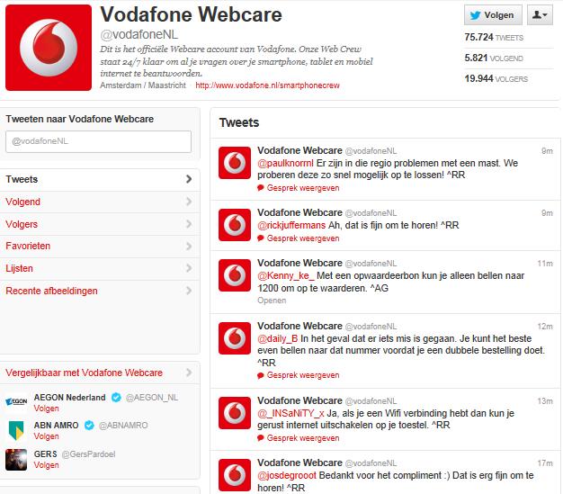 Twitter webcare