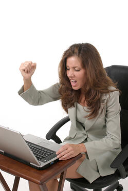 frustrated business woman