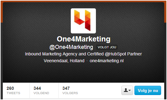 One4Marketing Twitter