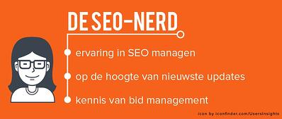 SEO nerd rol marketingteam
