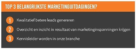 top 3 marketinguitdagingen ict