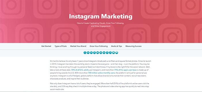 voorbeeld 1 HubSpot Instagram marketing pp