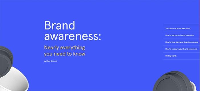 voorbeeld 2 Typeform Brand awareness