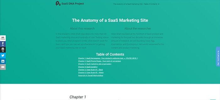 voorbeeld 3 SaaS DNA Project The anatomy of a SaaS marketing site