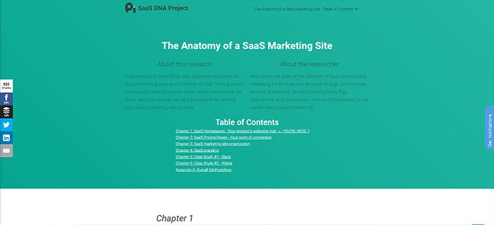 voorbeeld 3 SaaS DNA Project The anatomy of a SaaS marketing site