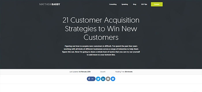 voorbeeld 4 Matthew Barby 21 Customer acquistition strategies
