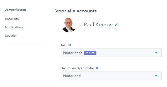 HubSpot is nu volledig beschikbaar in het Nederlands