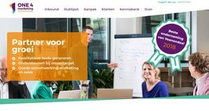 De homepage van One4marketing.nl is ontwikkeld via de Growth Driven Design-methode.
