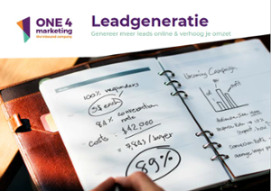 voorkant e-book leadgeneratie inbound marketing one4marketing