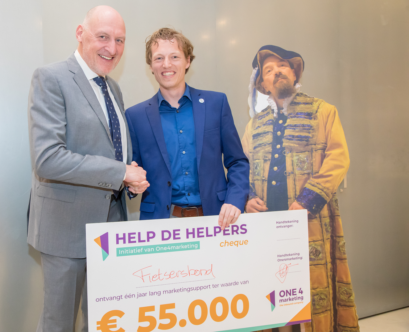 gilbert 2019 cheque uitreiking pers - Govert Govers